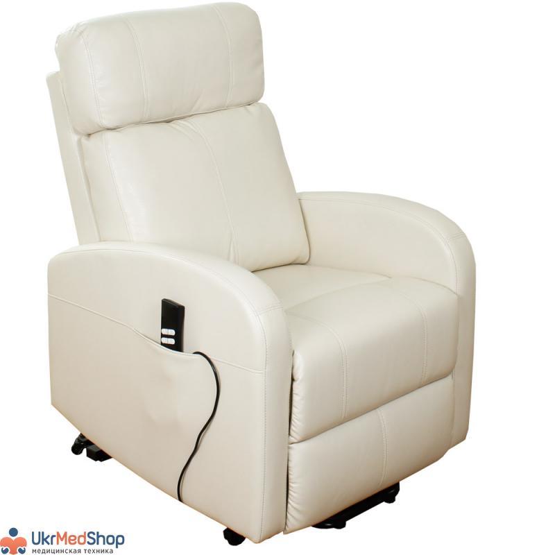Подъемное кресло реклайнер с двумя моторами (белое) OSD-CAROL-PU02-1LD