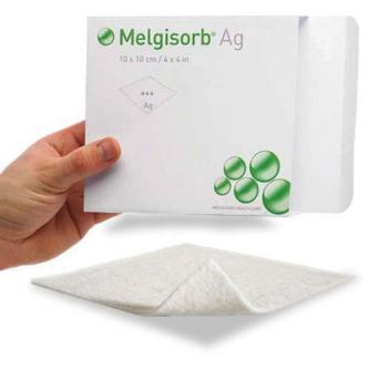 Повязка заживляющая с серебром Melgisorb Ag 5х5 см